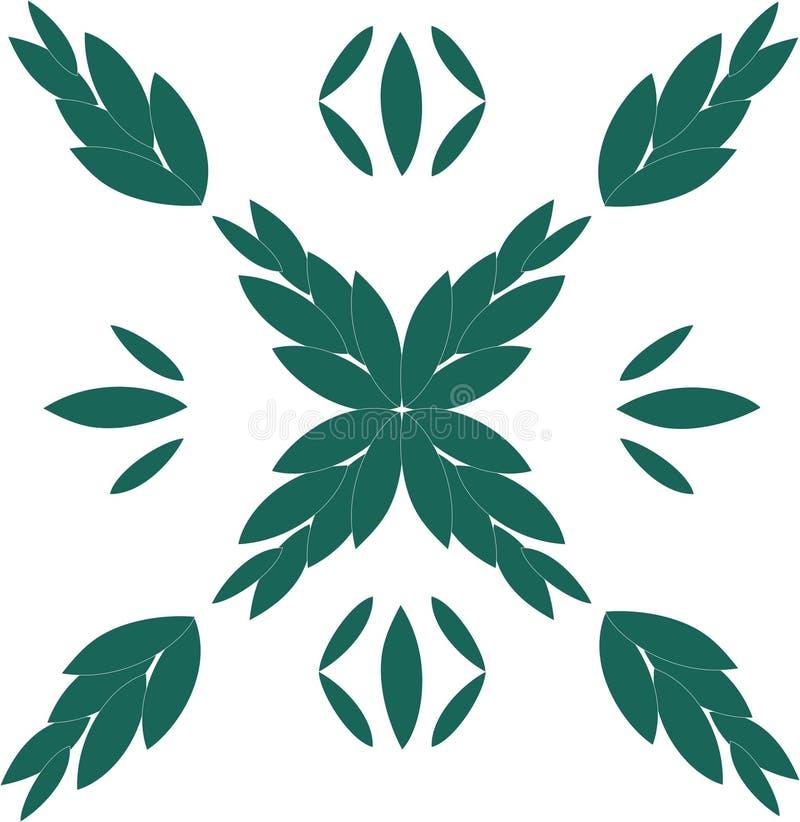 Римские зеленые лист иллюстрация штока