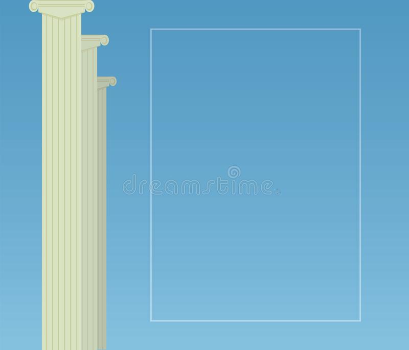 Римские классические серые столбцы собирают налево обрамляя рамку оформления на праве пишут образование сертификата объявления на бесплатная иллюстрация