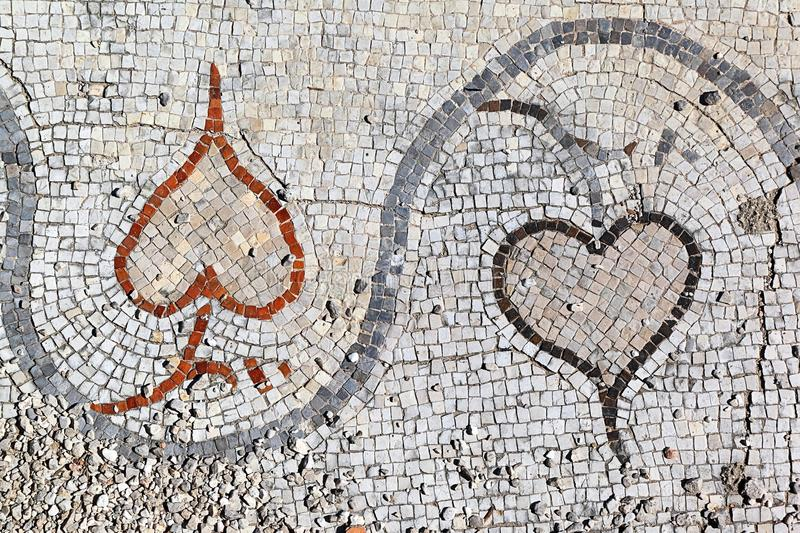 Римские мозаики на покрышке, Ливане стоковое изображение