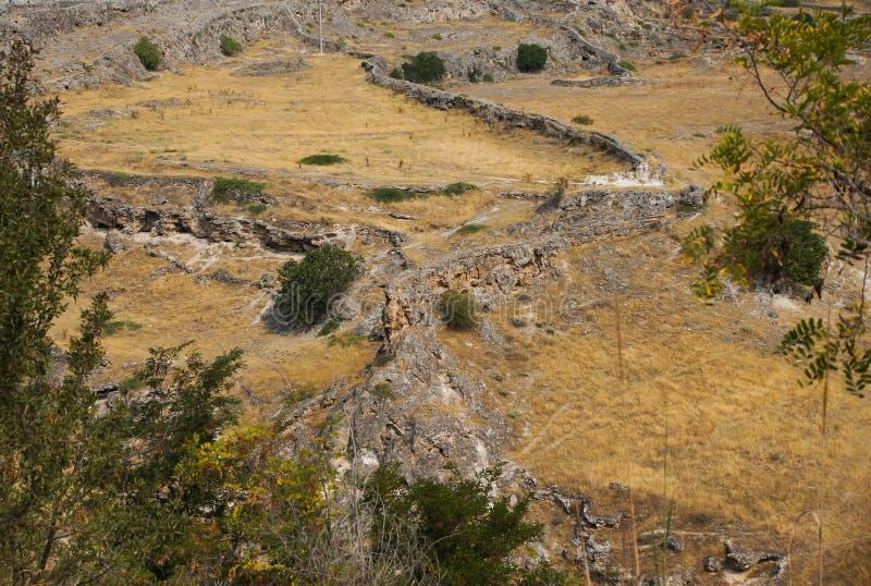 Римские дорога и мост-водовод в Hieropolis стоковое изображение rf