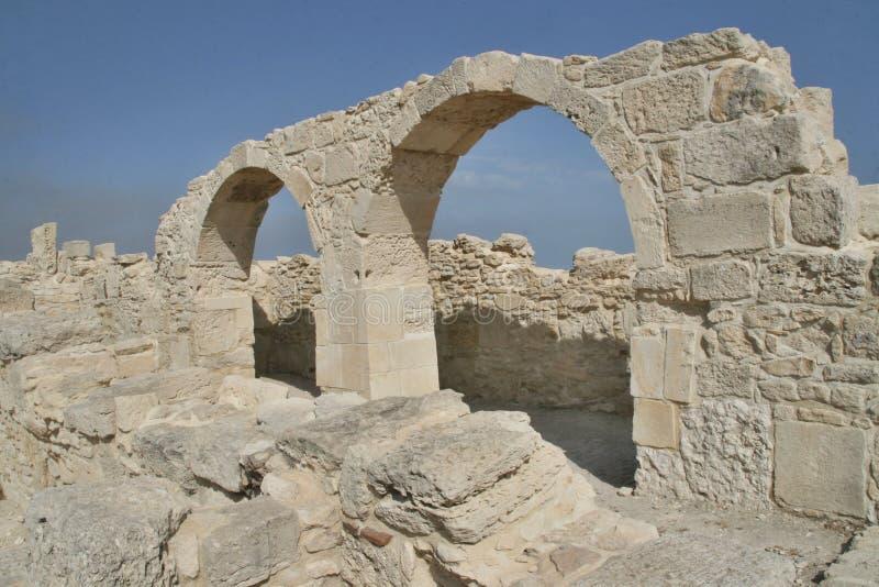 Римские памятники Kourion, Кипр стоковые фото