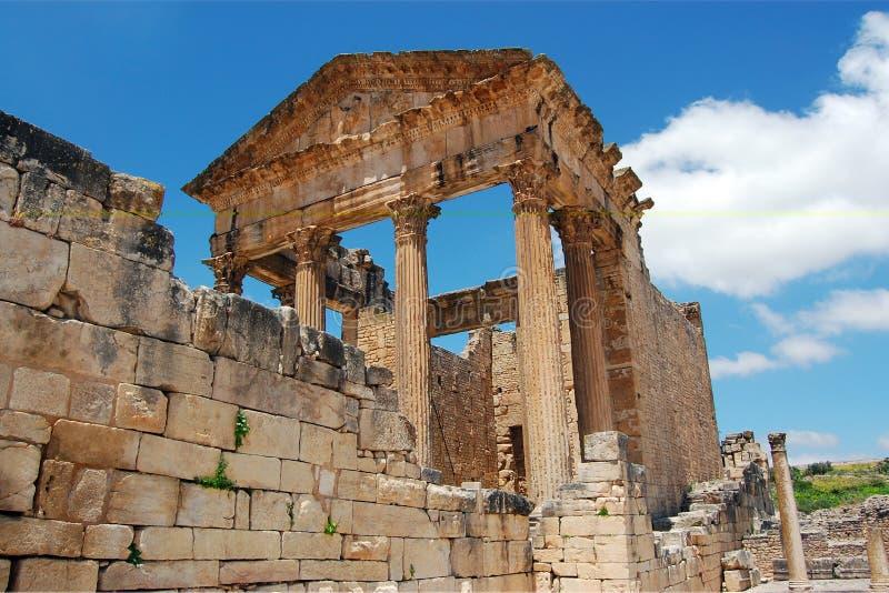 Римские руины капитолия стоковая фотография rf