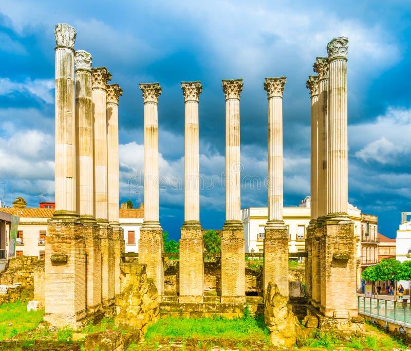 Римские столбцы в Cordoba стоковое изображение