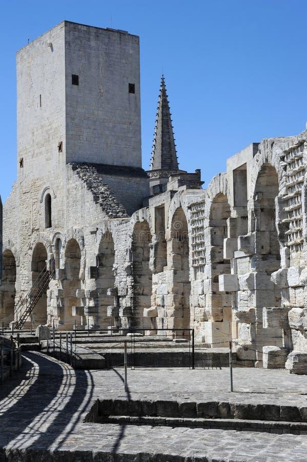 Римский амфитеатр на Arles стоковые фотографии rf