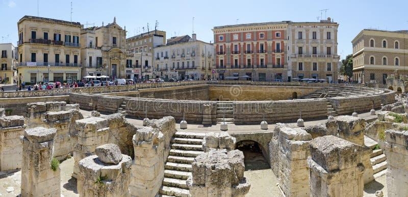 Римский амфитеатр на Lecce стоковые фотографии rf