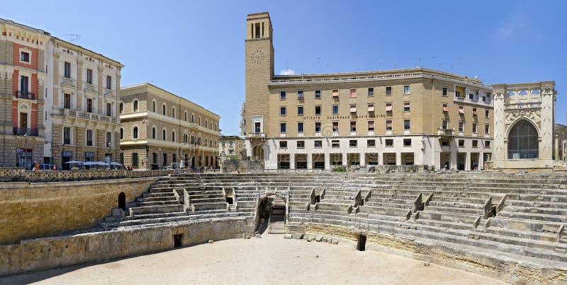 Римский амфитеатр на Lecce стоковая фотография rf