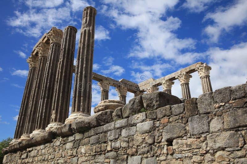 Римский висок Дианы в Evora Alentejo Португалия стоковая фотография