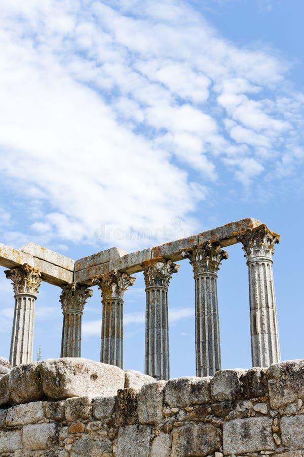 Римский висок Дианы, Evora, Alentejo, Португалии стоковое изображение rf