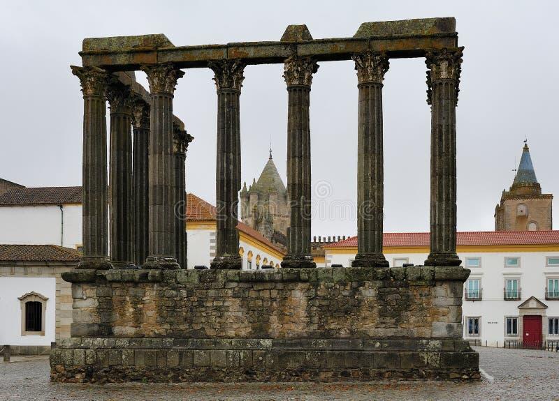 Римский висок Evora, Португалии стоковое фото