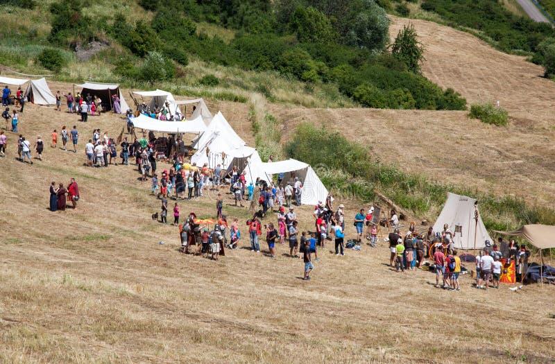 Римский военный лагерь стоковое фото rf