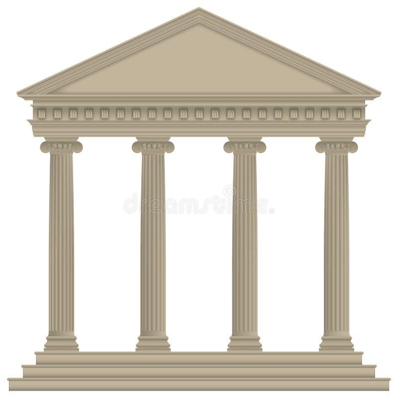 Римский/греческий висок иллюстрация вектора
