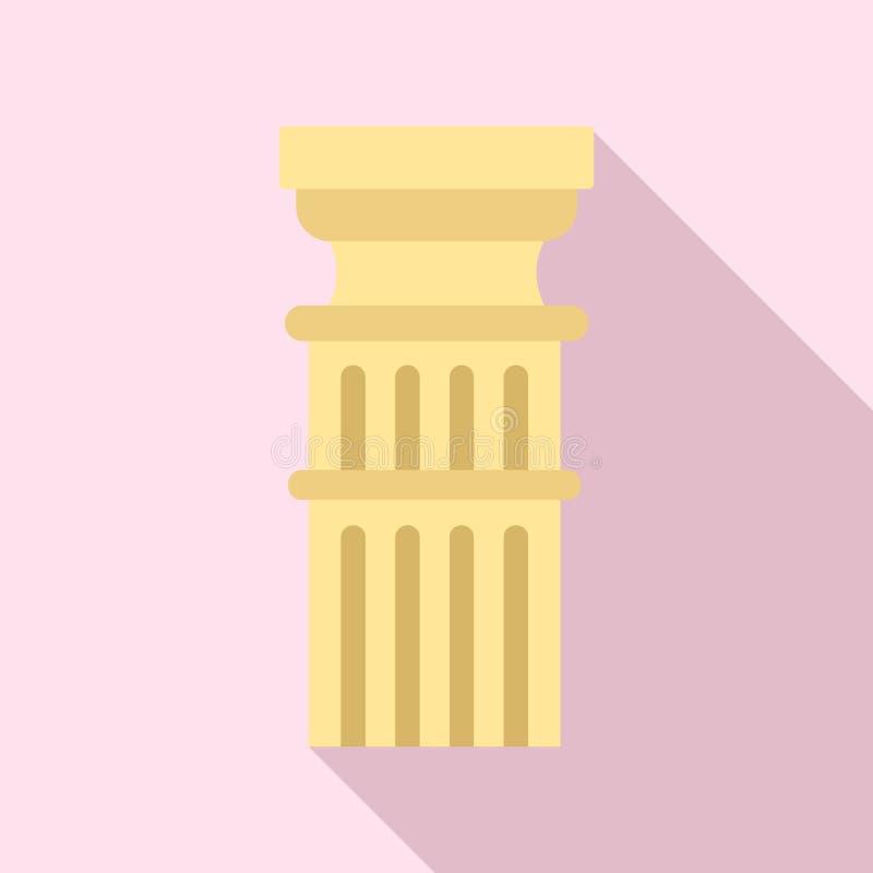 Римский значок столбца, плоский стиль иллюстрация вектора