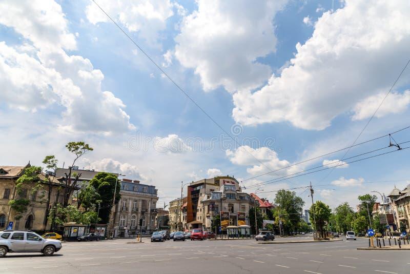 Римский квадрат (Piata Romana) в Бухаресте стоковое изображение