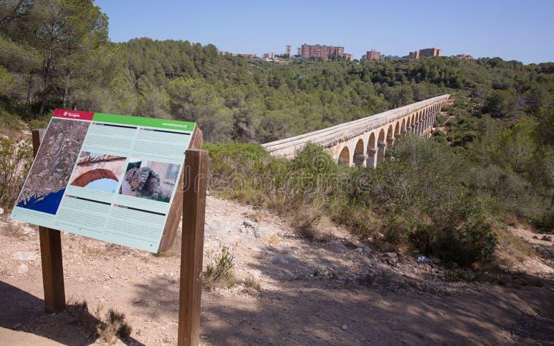 Римский мост-водовод Таррагона, Испания стоковое изображение rf