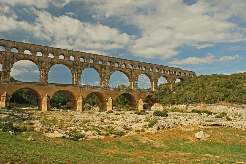 Римский мост-водовод стоковые фото
