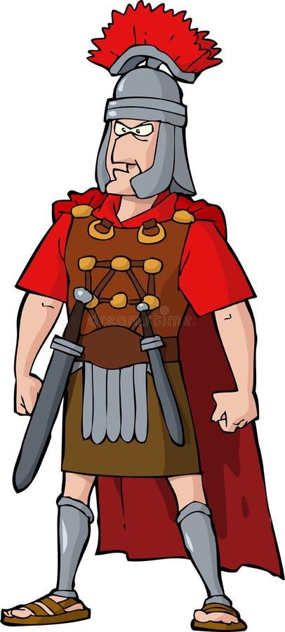Римский офицер иллюстрация вектора
