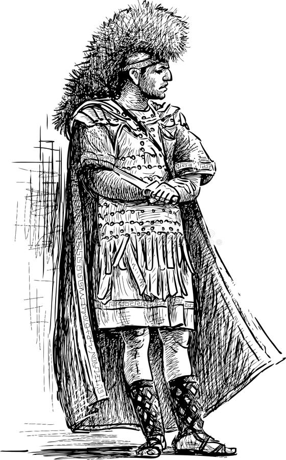 римский ратник иллюстрация штока