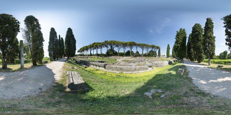 Римский речной порт в Aquileia стоковые изображения