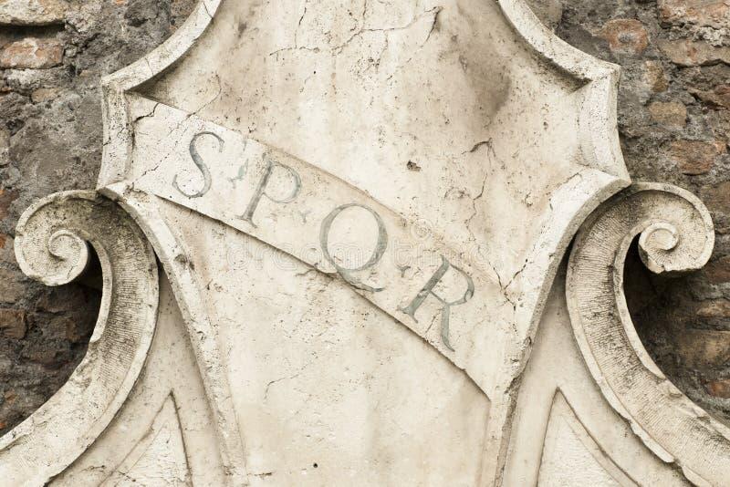 Римский символ SPQR стоковая фотография rf