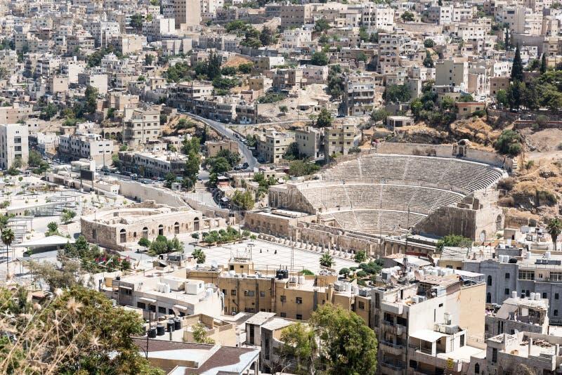 Римский театр Аммана стоковое изображение rf
