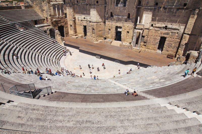 Римский театр апельсина стоковые фотографии rf