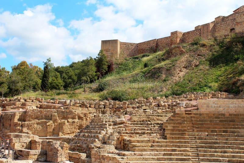 Римский театр в Малаге стоковая фотография rf