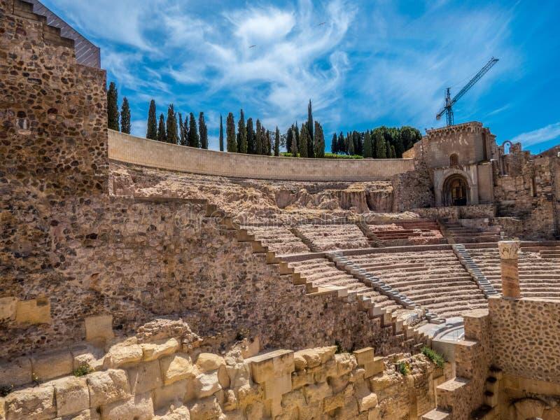 Римский театр в Cartagena, Испании стоковые изображения rf
