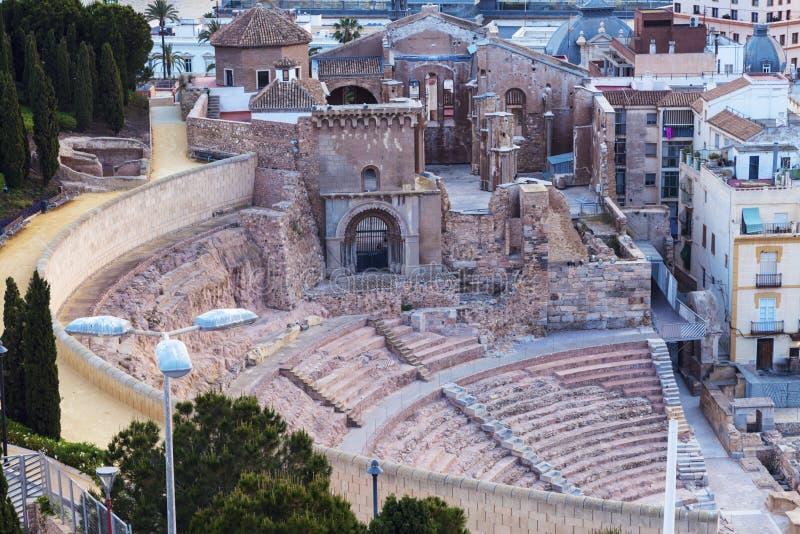 Римский театр в Cartagena стоковое фото