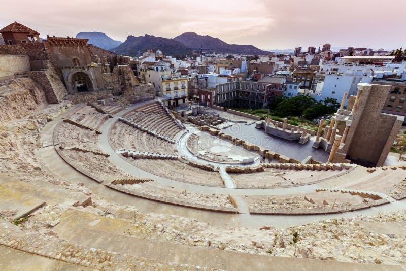 Римский театр в Cartagena стоковое изображение