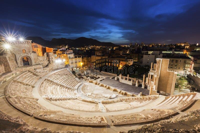Римский театр в Cartagena стоковое фото rf