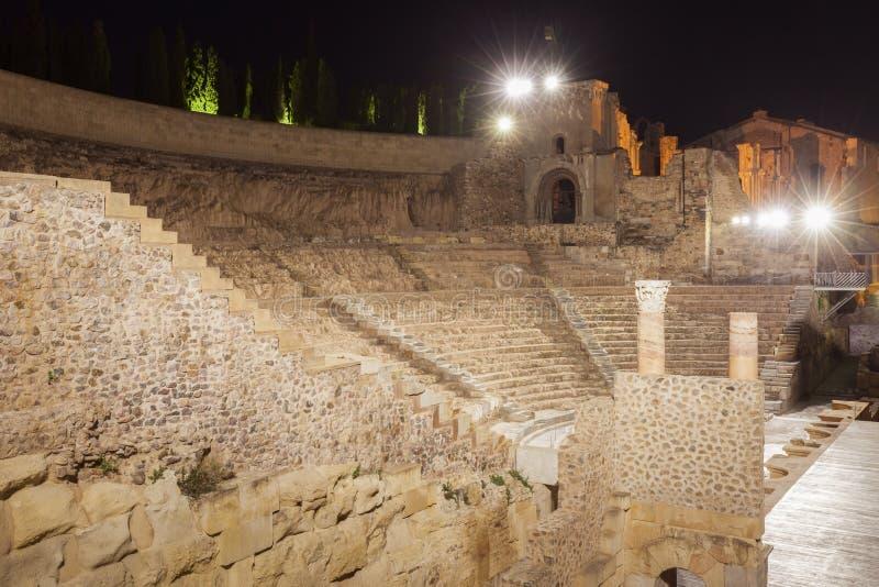 Римский театр в Cartagena стоковое изображение rf