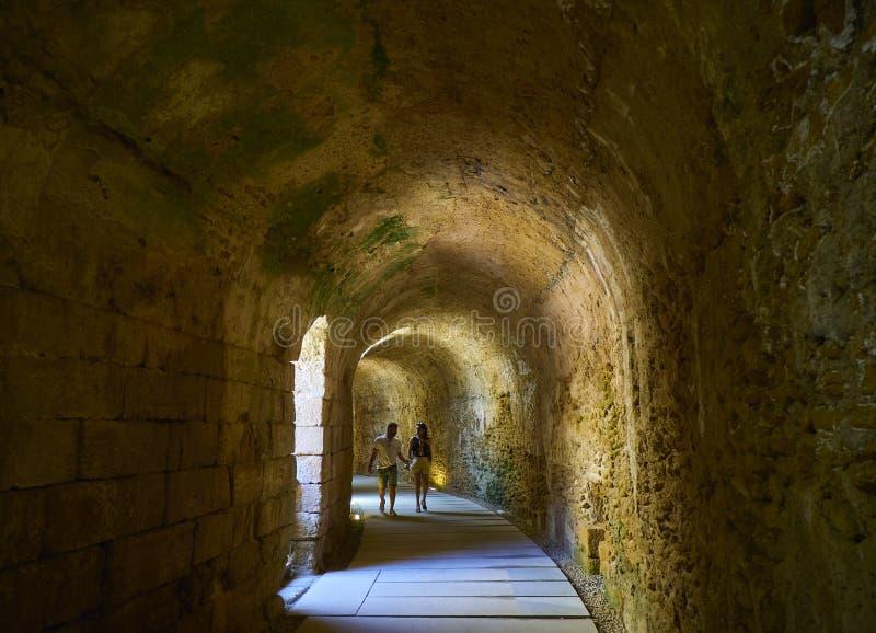Римский театр Кадис o стоковые фото