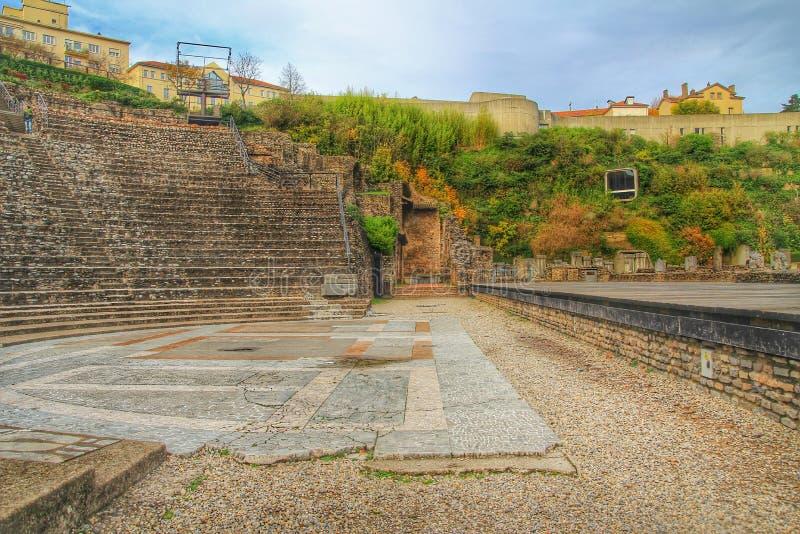Римский театр fourviere, городка Лиона старого, Франции стоковое изображение