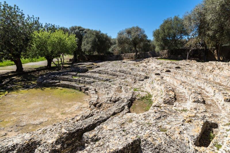 Римский театр Pollentia стоковые изображения