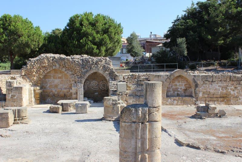 Римский форум в Paphos, Кипре стоковая фотография rf