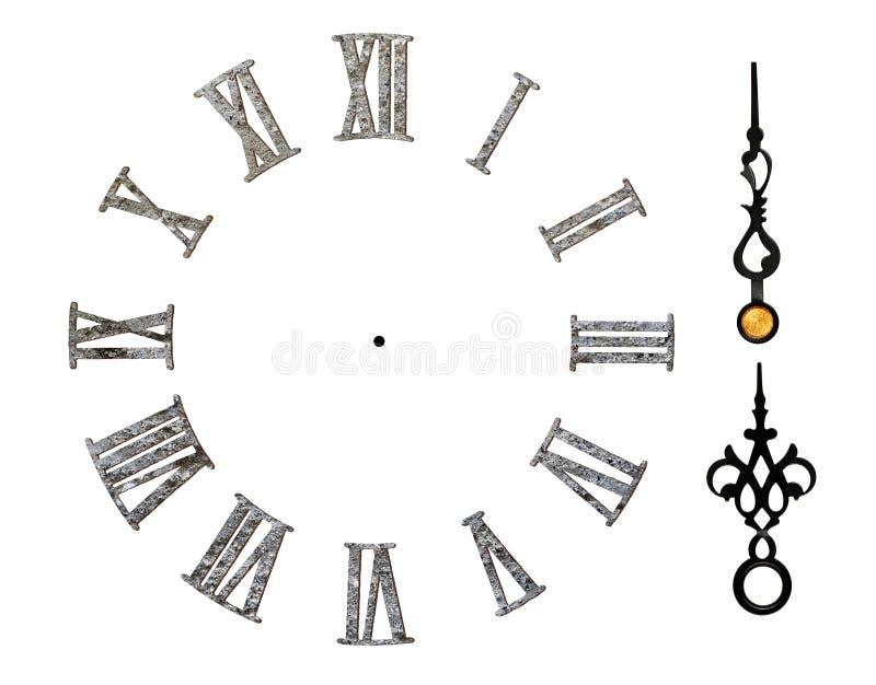 Римский циферблат иллюстрация вектора