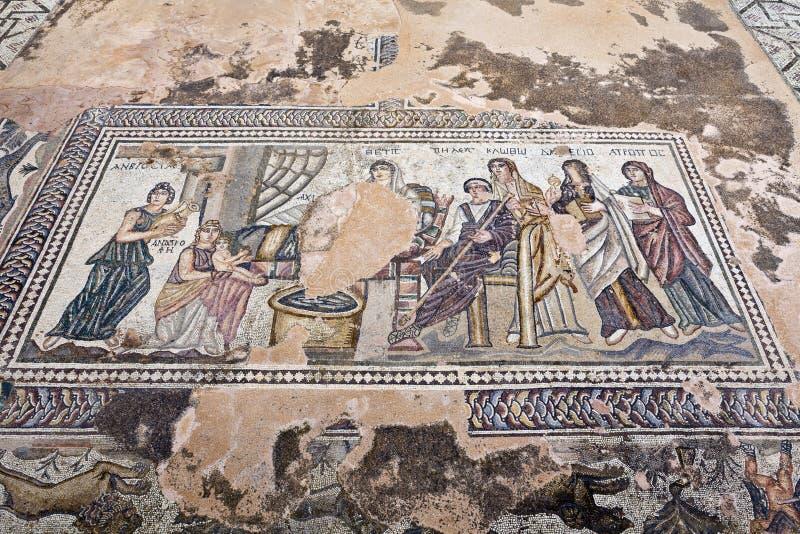 Римское место наследия в Paphos, Кипре. стоковое изображение