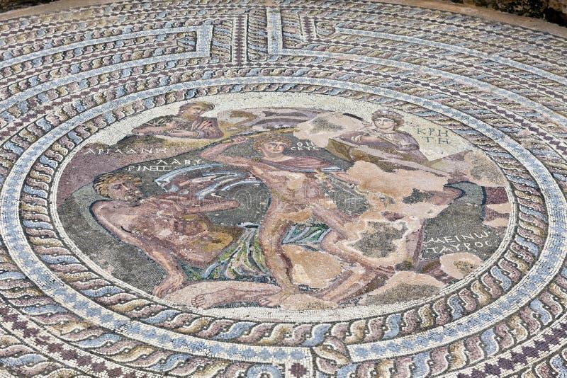 Римское место наследия в Paphos, Кипре. стоковая фотография rf