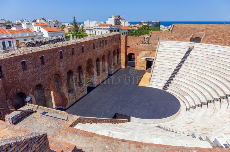 Римское Odeon в Патрасе, Пелопоннесе, Греции стоковые фотографии rf