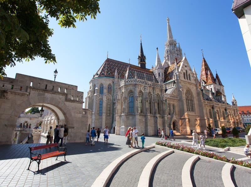 Римско-католическая церковь, церковь Matthias, Будапешт, Венгрия стоковое изображение