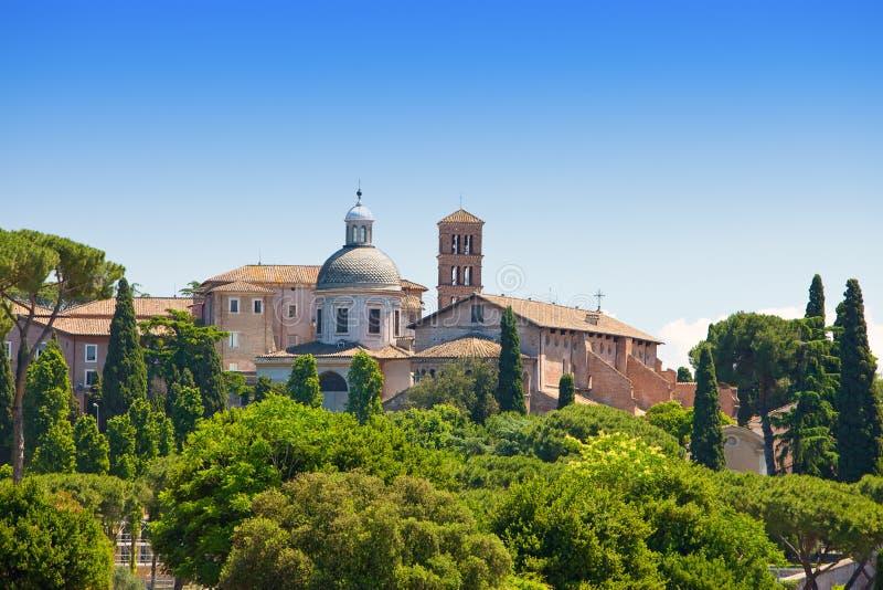 Рим. Италия. Взгляд от холма Palatine. стоковое фото