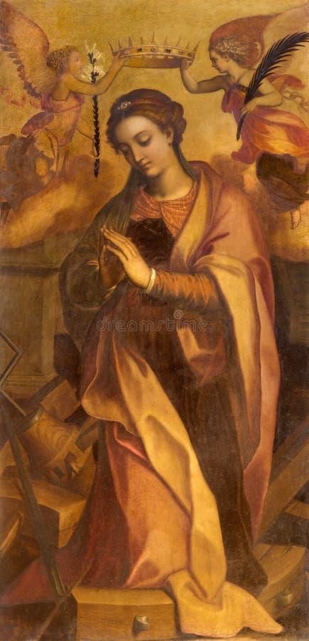 Рим - картина st Катрина внутри в Базилике di Sant Agostino (Augustine) стоковые фотографии rf