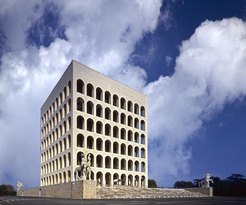Рим, квадрат Colosseum EUR стоковые фото