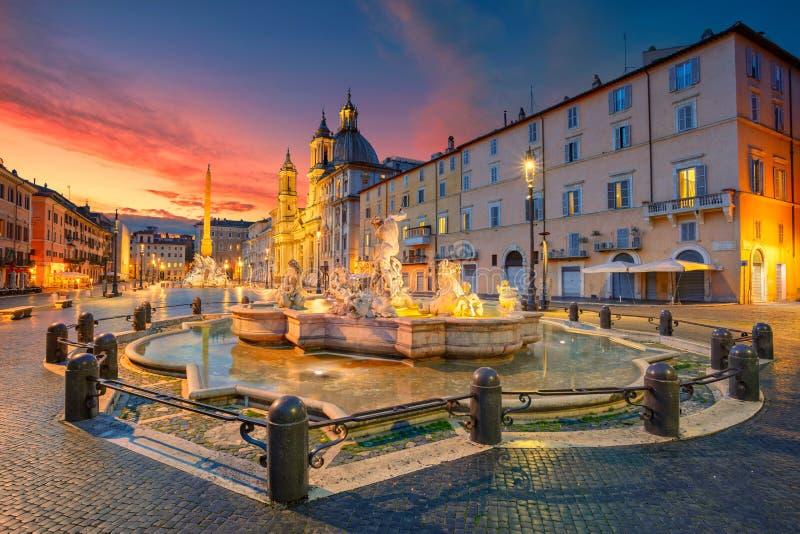 Рим, квадрат Navona стоковая фотография rf