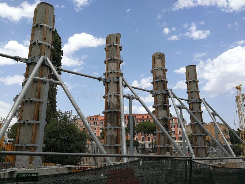 Рим - усиленные столбцы стоковые фотографии rf