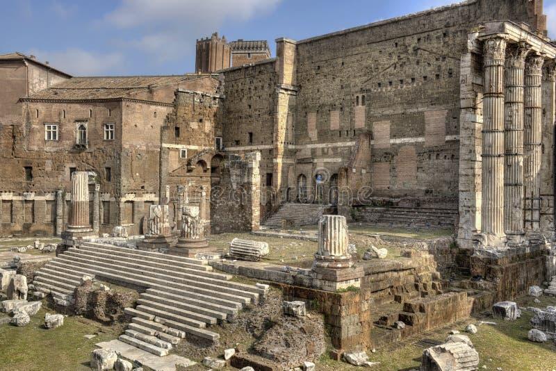 Рим, форум Augustus - близкого взгляда стоковое изображение rf