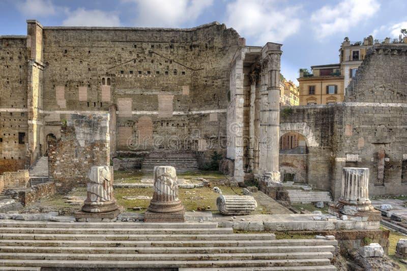 Рим, форум Augustus - вид спереди стоковое изображение rf