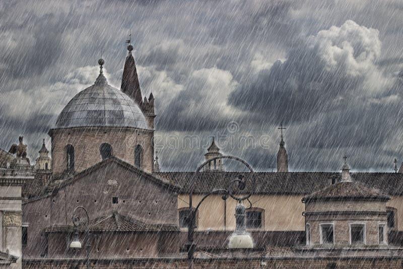 Рим, Piazzale Flaminio стоковые фото