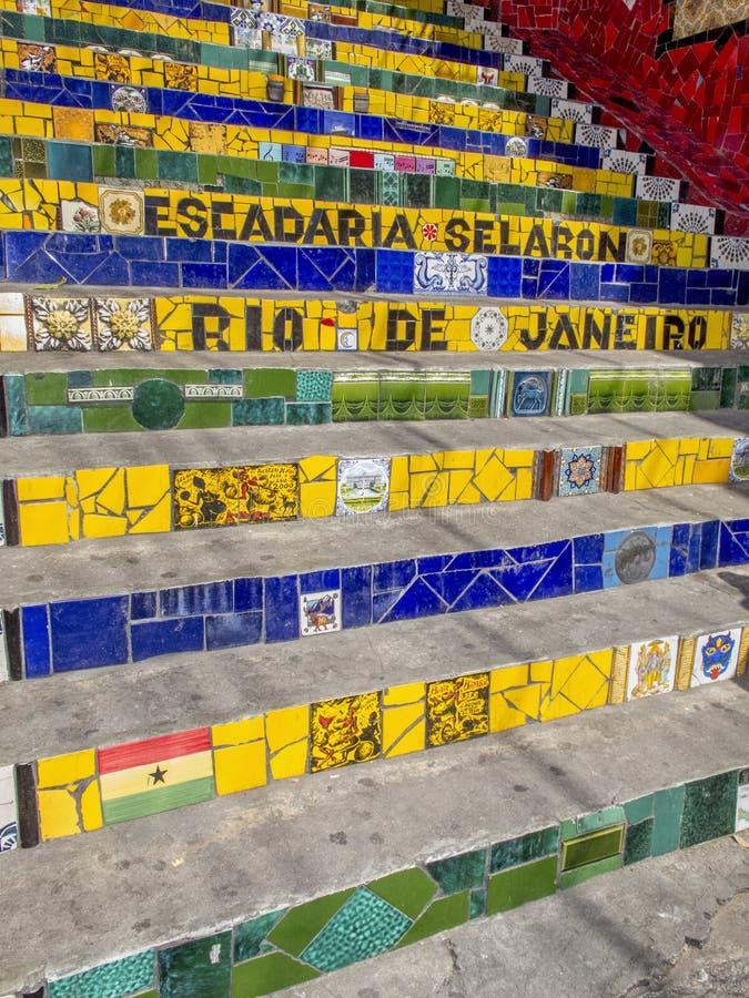 Download Рио-де-Жанейро, лестница: Escadaria Selaron Стоковое Фото - изображение насчитывающей страны, multi: 40576864