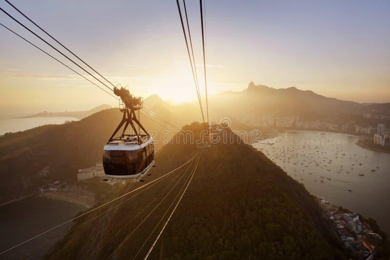 Рио-де-Жанейро на заходе солнца стоковая фотография